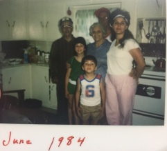 Grand-Pepere, Pepere, Mom, Me and Darryl