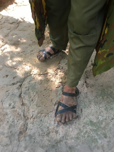 They made specially designed shoes which were the same at both front and back so the enemy couldn't tell in which direction they were walking