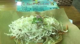 Fish Taco with Wasabi Sauce