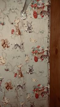 Wallpaper in bedroom closet