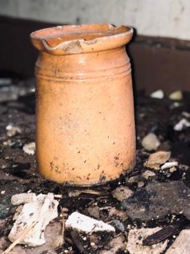 Clay Pot on Ground